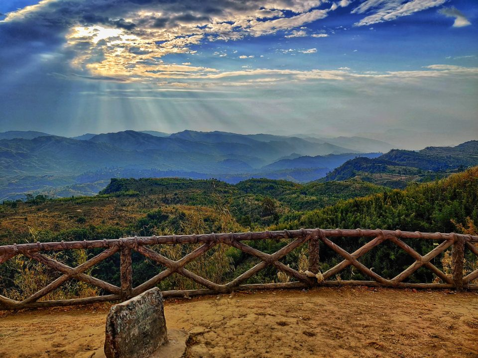 The top best travel destinations in Bangladesh. Stunning view of Keokradong , shaddy sky with sunset , Bandarban, Bangladesh