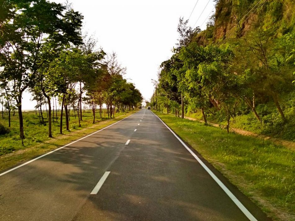 Wonderful marine drive and side view on both sides of the road, Cox's Bazar, Bangladesh